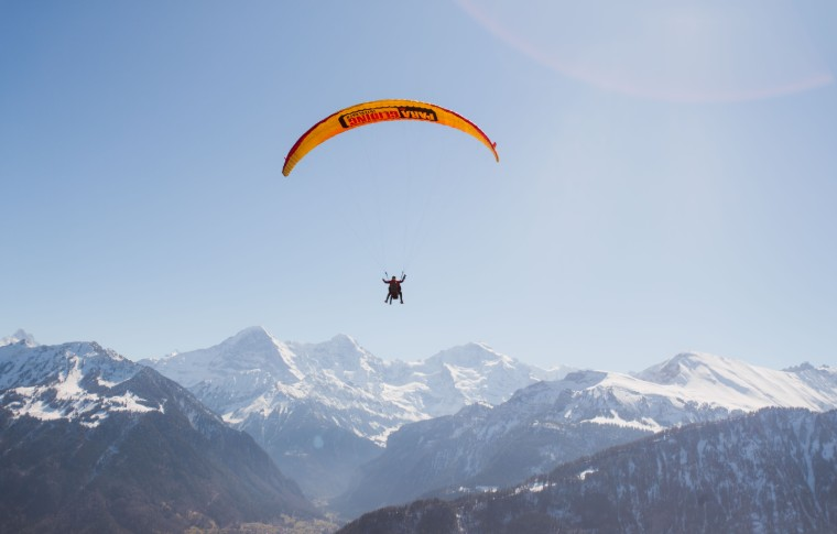 paraglide over the swiss alps